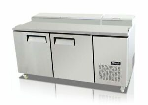 New Migali 67 Pizza Prep Table Cooler C pp67 Free Shipping