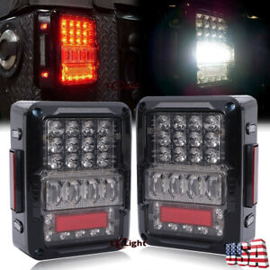 New Rear Led Tail Lights Brake Turn Signal Reverse Lamps For 07 17 Jeep Wrangler