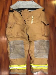 Firefighter Turnout Bunker Pants Globe 52x30 2003 Bib Style Halloween Costume