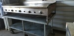natural Gas Grill commercial 72 with Thermostat Attached To Custom Made Table