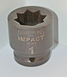 1 Inch Armstrong Usa 3 4 Inch Drive Square Impact Socket