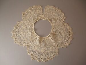 Antique Victorian Chemical Lace Bertha Collar