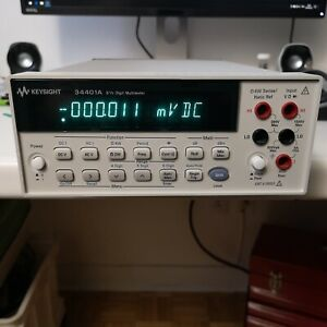 Hp Agilent Keysight 34401a Freshly Calibrated 14 02 2019 Very Clean