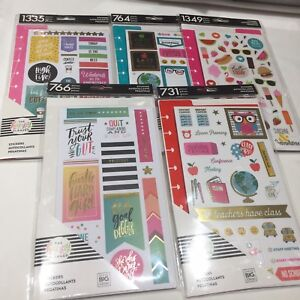 Happy Planner Sticker Dashboard Teacher Student Productivity Basics Seasonal Lot