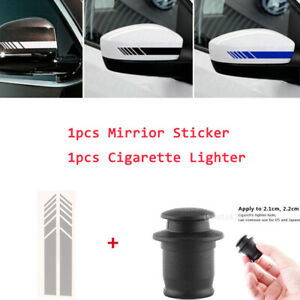 Car Cigarette Lighter Cover Cap Protect From Dust Water Dirt Damage Sticker