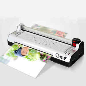 220v A4 Laminator Machine Paper Photo Laminating Hot Cold Roller Office Supply