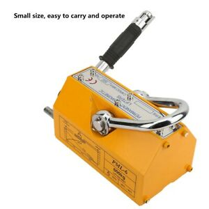 600kg Portable Permanent Lifting Magnet Crane Magnetic Lifter Tool Reliable New