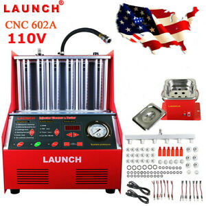 Launch Cnc602a Ultrasonic Car Fuel Injector Cleaner Machine Free Transformer Usa