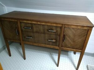 Mid Century Wood Dining Room Sideboard Buffet Good Condition 1940 S 1950 S