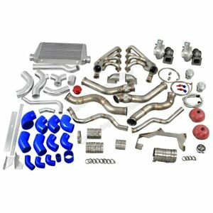 Cx Twin Turbo Manifold Header Intercooler Kit For 67 69 Chevrolet Camaro Ls1