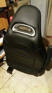 2012 2013 Fiat 500 Abarth Front Bucket Seats Pair Black W Redstichesleather