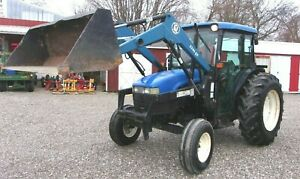 2002 New Holland Tn 75d Cab Loader Tractor delivery 1 85 Per Loaded Mile