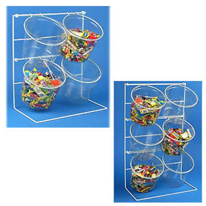 Retail Counter Top Clear Bucket Display With 4 Or 6 5 5 H Jars Wholesale