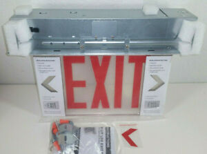 Lithonia Lighting Edgr 1 r m4 Led Emergency Exit Sign Recessed