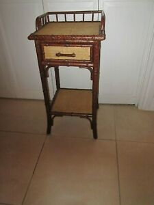 Vintage Hollywood Regency Side Table One Drawer