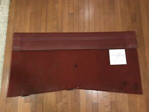 1986 1992 Jeep Comanche Mj Red Carpeted Back Of Cab Rear Interior Trim Panel