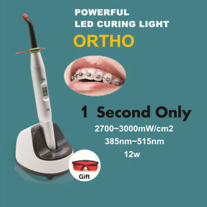 Ortho 1 Second To Cure Led Curing Light Lamp 3000mw cm2 Broad Spectral 385 515nm