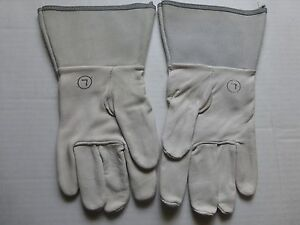 Heliarc Welding Gloves Goat Skin set Of 10 Pairs Size Large
