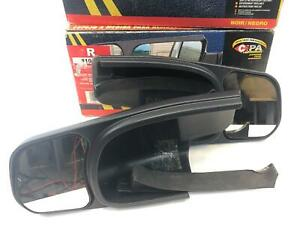 Set Left Right Cipa Towing Extension Side View Mirrors For Gmc Chevy Cadillac