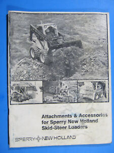 New Holland Skid Steer Loaders Attachments Accessories 1981 Catalog Brochure