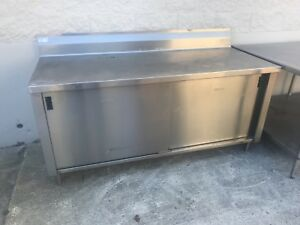 30 X 72 16 gauge Stainless Steel Cabinet table Restaurant Bakery