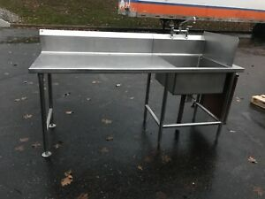 Commercial Work Table With Sink Restaurant Bakery