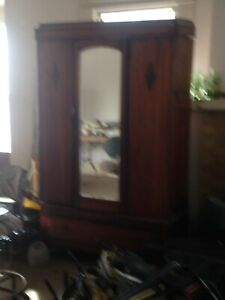 Vintage Antique Chifferobe Armoire Wardrobe With Beveled Mirror San Antonio