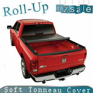Lock Roll Up Soft Tonneau Cover Fit 2002 2008 Dodge Ram 1500 6 5ft 78in Bed