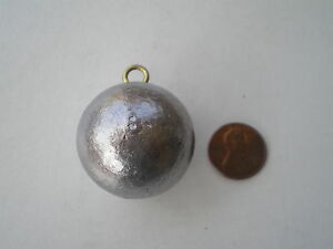 10 PCS. CANNON BALL SINKERS 8 OZ.  W#2 WIRE EYE GOOD QUALITY FROM DO-IT MOLD