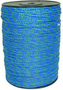 Polywire 1640 Ft Blue Green Electric Fence Livestock Horse Fencing Security