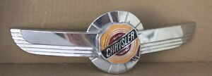 Vintage 1950 Chrysler Windsor Hood Ornament Emblem Cloisonn Fox Co Original Vgc
