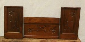 3 Antique Salvaged Carved Walnut Panels For Repurpose Restoration Projects