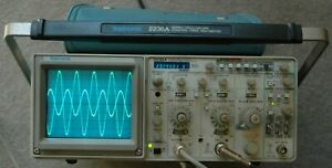 Tektronix 2236a 100mhz Oscilloscope W counter timer dmm Calibrated Two Probes