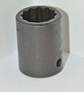 3 4 Inch Williams Usa 1 2 Inch Drive 12 Point Standard Impact Socket