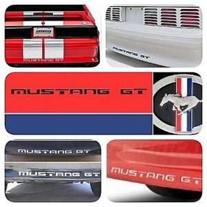 Fits Ford Mustang Gt1994 1998 Rear Bumper Letters Inserts Abs Chrome Decals