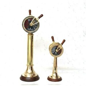 Set Of 2 Brass Ship S Engine Order Telegraphs Antique Home Decorative