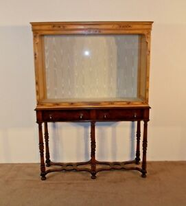 Antique Victorian William Mary C 1880 Chinoiserie Store Display Cabinet