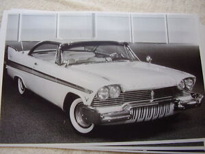 1957 Plymouth Fury 2dr Hardtop 11 X 17 Photo Picture