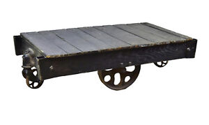 Antique Industrial Factory Heavy Duty Rolling Cart Dolly