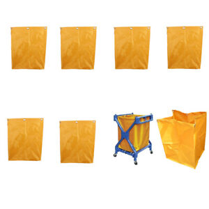 6pcs Waterproof Nylon Oxford Cloth Cleaning Janitorial Cart Replacement Bag