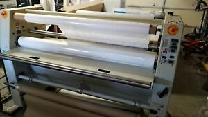 Gbc Pro tech F 60 Wide Format Hot Cold Laminator Plus Laminate Rolls