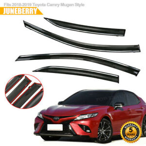 For 2018 2019 Toyota Camry Mugen Style Acrylic Window Visors Deflector 4x