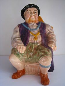 Porcelain Figurine King Henry Viii Mechanical Music Mug Jug Wain