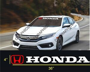 Honda Windshield Window Banner Decal Vinyl Sticker Race Honda Civic Accord Sol