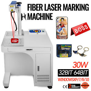 Fiber Laser Marking Machine 30w Cabinet Type High Precision Cnc Marker Engraver