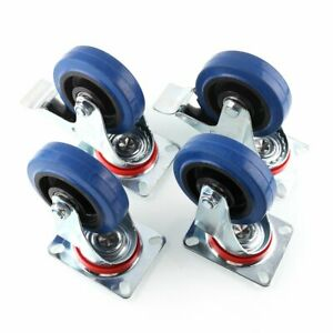 Mvpower 4 Pack 4 Swivel Caster Wheels Dust Cover Rubber Heavy Duty Castors With