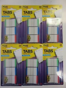 Post it Durable Tabs 1 X1 5 Green blue red 686lgbrt 36ct X 6 Packages 216 Tabs