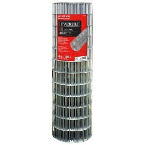Steel Welded Wire 4 X 100 Ft Pvc Coated Galvanized Mesh Fencing Fence Roll Metal