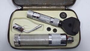 Vintage Welch Allyn 707 Ophthalmoscope Otoscope Case Heads Parts Doctor Tool