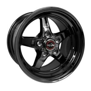 Race Star 92 510152dsd Wheel 15x10 92 Drag Star Dark Star For Ford Black Chrome
